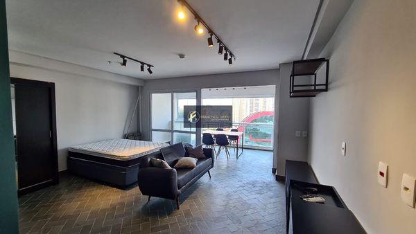 Apartamento Flat, mobiliado com 1 vaga de garagem - Alugar no Centro de São Bernardo