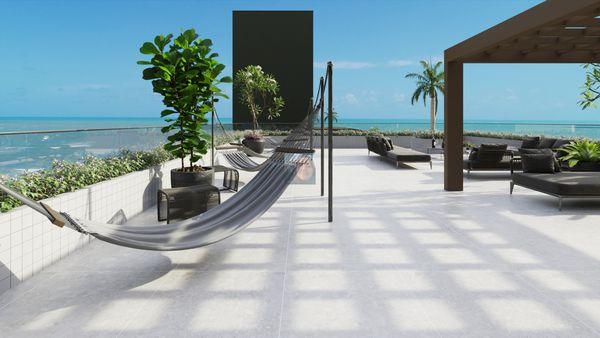 Apartamento de 2 quartos, beira mar, Praia de Cabo Branco, João Pessoa - Jardins Al Mare