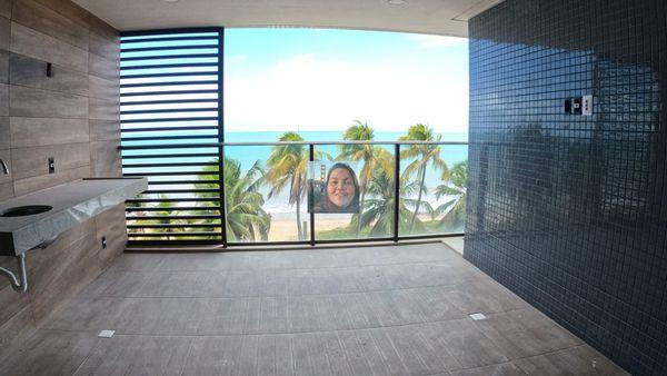 Apartamento de frente para o mar na Praia de Cabo Branco, João Pessoa