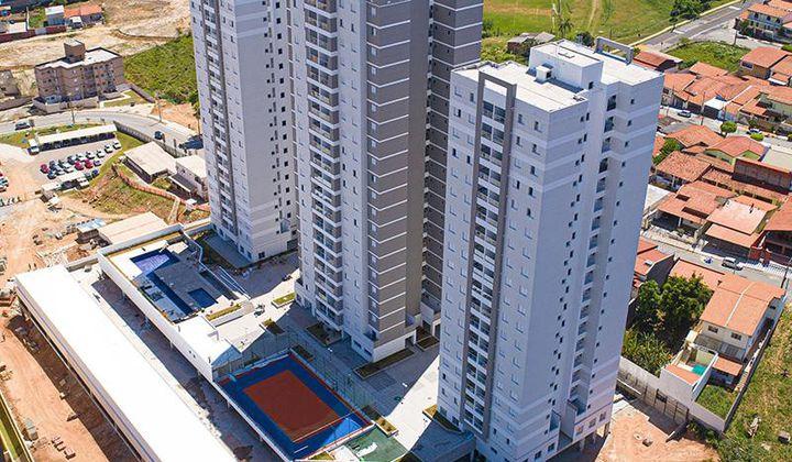 Apartamento Novo no Jardim Moncayo, com 2 dormitórios (1 suíte), 2 vagas de garagem cobert