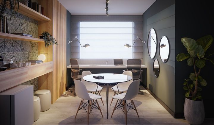 Studio no Kobrasol com 50 m², na planta