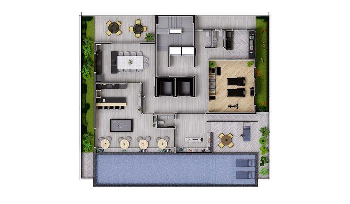 Studios e Lofts no Kobrasol, com 33 m²