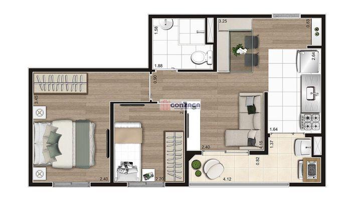 Lançamento de Apartamento 2 dormitórios na Sabará