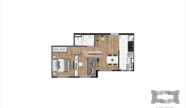 apartamento 2 quartos Vila das belezas