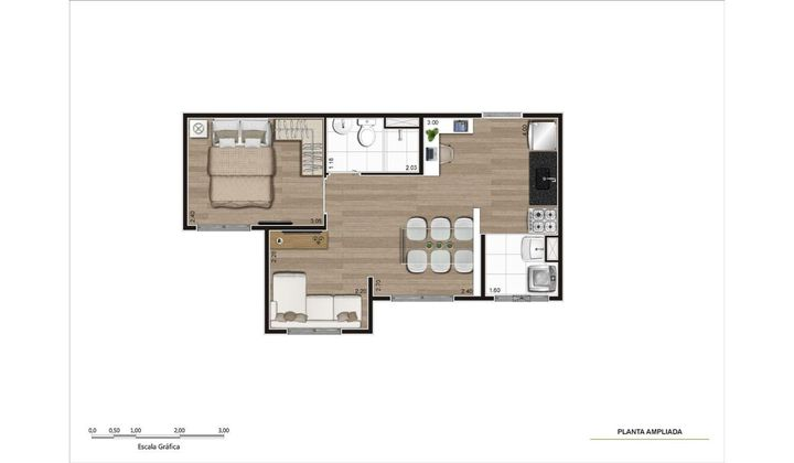 Apartamento 2 quartos no Morumbi