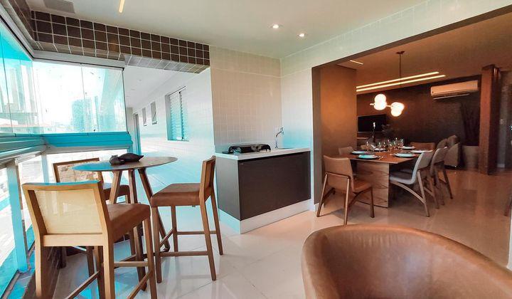 Apartamento de 3 dormitório sendo 3 suite no Canto do Forte em Praia Grande.