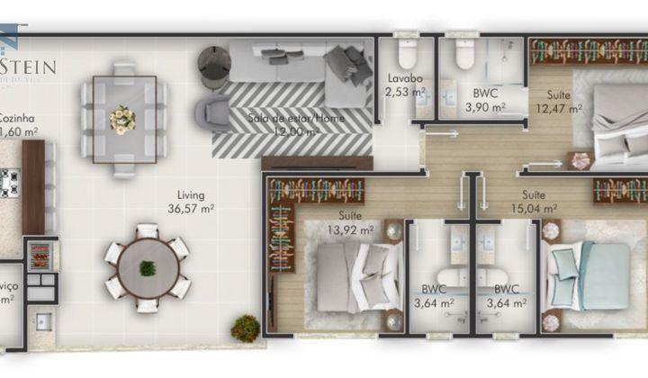 Perequê - Apartamento em Construção 3 Suítes 2 Vagas