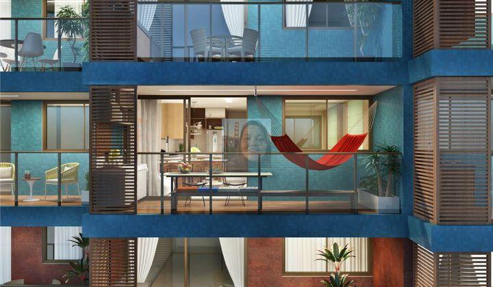Apartamento em Tambaú, próximo a praia em João Pessoa, 2 quartos, posição leste (nascente)