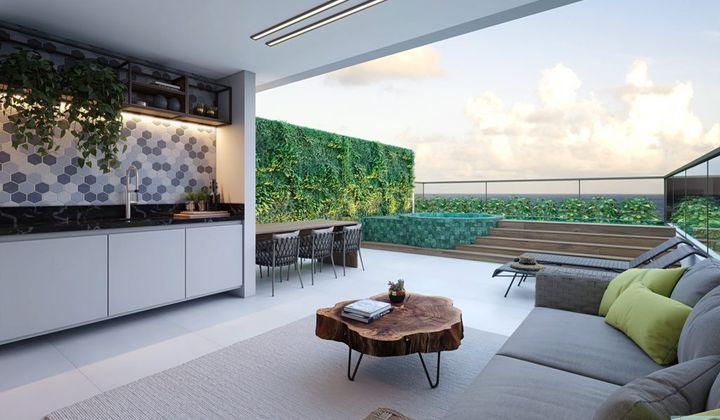 Apartamento Falésia, 2 quartos, pé na areia na Praia do Seixas, João Pessoa