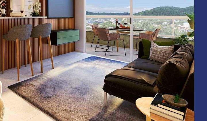 Apartamento 2 dormitórios Itaquá - Ubatuba