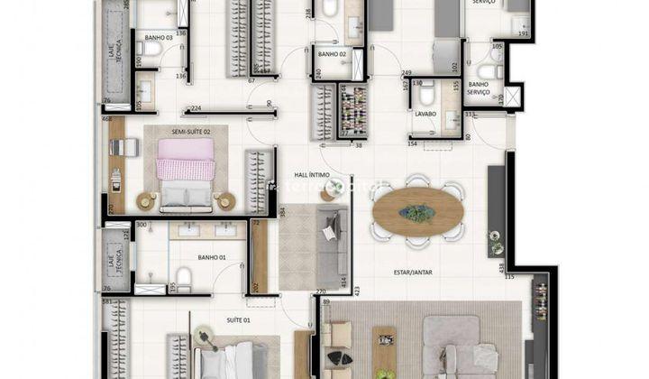 Apartamento na Asa Norte, com 4 quartos I 3 Vagas I 194 m²
