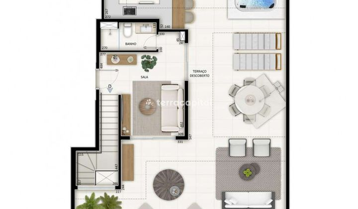 Cobertura Duplex na Asa Norte, com 4 dormitórios I 319 m² I 4 vagas