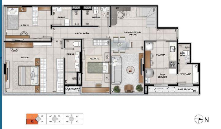 Cobertura Duplex no Noroeste, com 3 quartos I 247 m² I 3 vagas